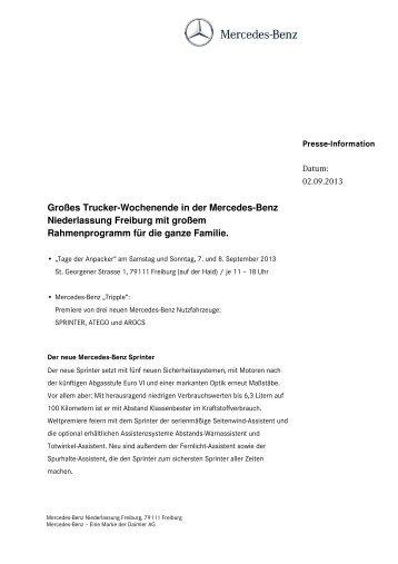 Großes Trucker-Wochenende in der Mercedes-Benz Niederlassung ...