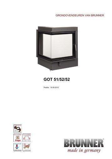 eck kamin 57 52 52 draaideur made in germany brunner. Black Bedroom Furniture Sets. Home Design Ideas