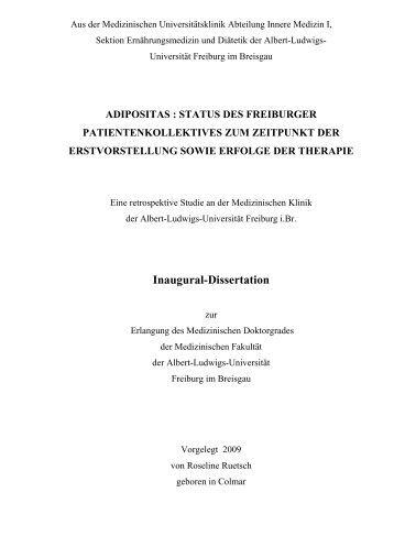 Dissertation inaugural