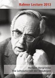 Herbert Vorgrimler Die Lehrautorität der Gläubigen - FreiDok