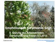 Präsentation Grünanlagen