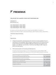 Einladung und ausführliche Tagesordnung - Fresenius
