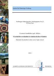Freiburger Ethnologische Arbeitspapiere Nr.22 - FreiDok - Albert ...
