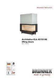 Architektur-Eck 45/101/40 lifting doors made in germany - Brunner