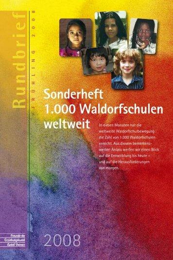 Sonderheft 1.000 Waldorfschulen - Freunde der Erziehungskunst ...