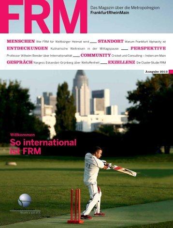 FRM Magazin Herbst 2013 (6 MB) - FrankfurtRheinMain GmbH