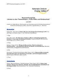 NZFH Literaturliste Juni 2013 - Nationales Zentrum Frühe Hilfen