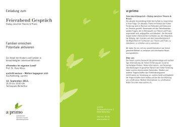 Feierabend:Gespräch - Frühkindliche Bildung in der Schweiz