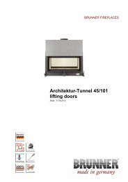 Architektur-Tunnel 45/101 lifting doors made in germany - Brunner