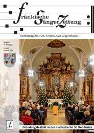 FSZ 1/2013 - Fränkischer Sängerbund