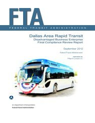 Dallas Area Rapid Transit - Federal Transit Administration