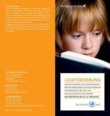 LESEFÖRDERUNG - Freie Universität Berlin