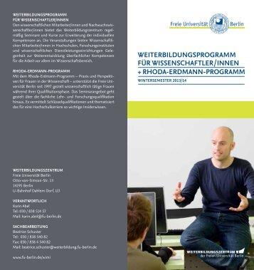 WiMi Progamm - Freie Universität Berlin
