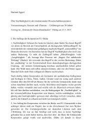 Der vollständige Vortrag ist hier nachzulesen... - Freie Universität ...