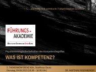 Kompetenz - Führungs-Akademie Deutscher Olympischer Sportbund