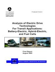 Analysis of Electric Drive Technologies for Transit Applications