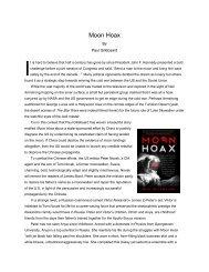 Moon Hoax - California State University, Fullerton