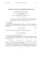 RENORMALIZATION OF THE FRIEDRICHS HAMILTONIAN 1 ...