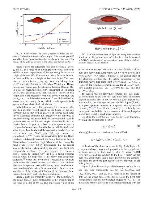 Zero g factors and nonzero orbital momenta in self-assembled ...