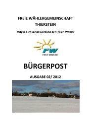 Bürgerpost Dezember 2012 - Druckvorlage V02 - Freie Wähler Bayern