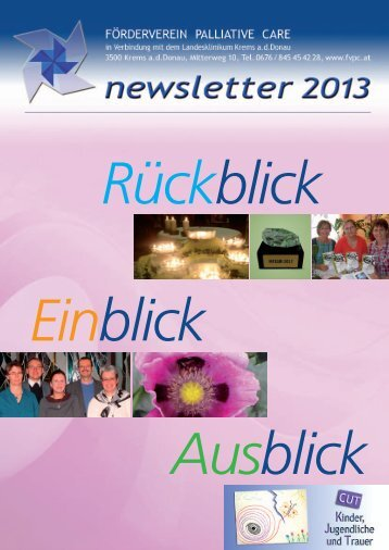newsletter 2013 - förderverein palliative care, krems