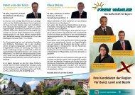 Ihre Kandidaten der Region Für Bund, Land und Bezirk