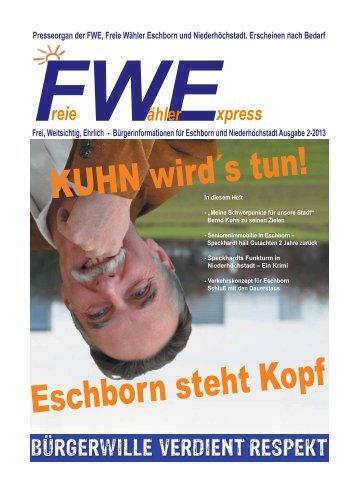 Ausgabe 2013 - Freie Wähler Eschborn Niederhöchstadt