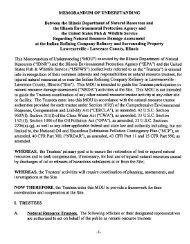 Memorandum of Understanding - U.S. Fish and Wildlife Service