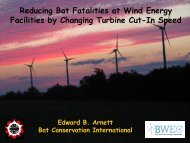 Reducing Bat Fatalities at Wind Energy Facilities by Changing ...