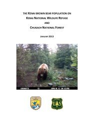 the kenai brown bear population on - U.S. Fish and Wildlife Service