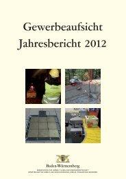 Jahresbericht 2013 Litho II - Gewerbeaufsicht - Baden-Württemberg