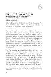 The Use of Human Organs Undermines Humanity - Gale