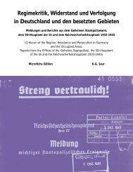 Regimekritik, Widerstand und Verfolgung in Deutschland und ... - Gale