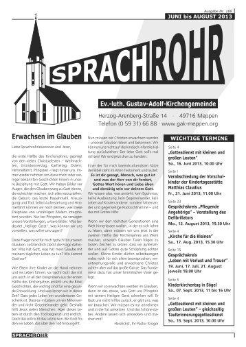 Erwachsen im Glauben - luth. Gustav-Adolf-Kirchengemeinde