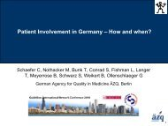 Patient Involvement in Germany - Guidelines International Network