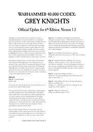 Grey Knights v1.5 - Games Workshop
