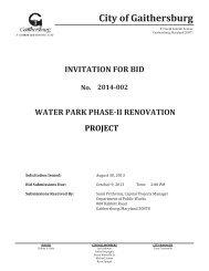 Solicitation Document - Invitation for Bid No. 2014-002 - City of ...