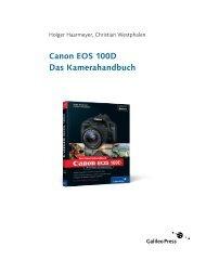 Canon EOS 100D. Das Kamerahandbuch (PDF) - Galileo Design