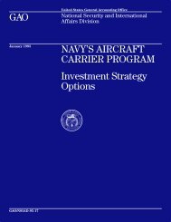 NSIAD-95-17 Navy's Aircraft Carrier Program - US Government ...