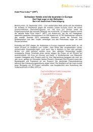 Schweizer Hotels sind die teuersten in Europa - gastro-tipp.ch