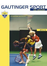 GSC Clubmagazin 2013 - Gautinger Sportclub e.V.