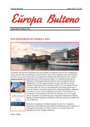 Numero 128: Junio 2013 - Eŭropa Esperanto-Unio