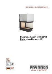 Panorama-Kamin 51/88/50/88 Porte relevable (easy-lift) - Brunner