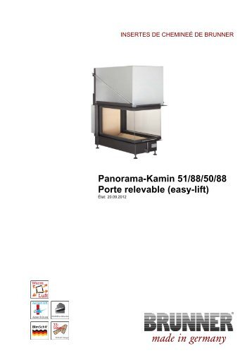 panorama kamin 57 40 60 40 porte relevable easy lift. Black Bedroom Furniture Sets. Home Design Ideas