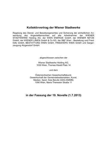 Kollektivvertrag der Wiener Stadtwerke - FSG