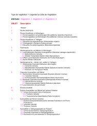 Type de végétation = Légende la Carte de Végétation Attributs ...