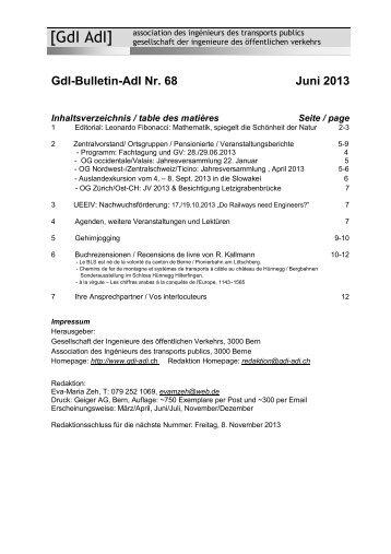 GdI-Bulletin-AdI Nr. 68 Juni 2013