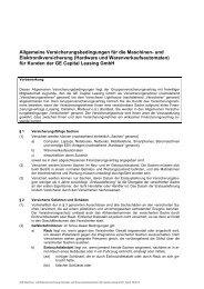 Allgemeine Versicherungsbedingungen für die Maschinen- und ...