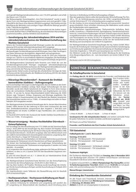 Ausgabe 20/2013 - Geiselwind