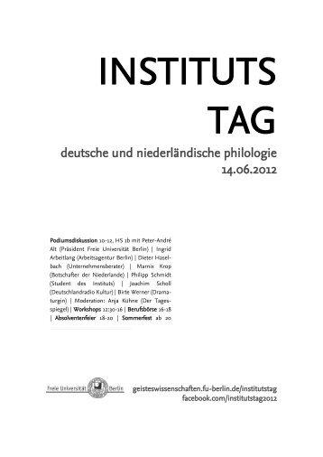 Ausführliches Programmheft - Fachbereich Philosophie und ...